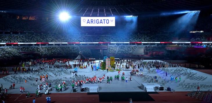 Closing ceremony Paralimpiade Tokyo 2020 di Stadion Olimpiade Tokyo, Minggu (5/9/2021) malam WIB. Ft/Twitter @Paralympics