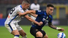 Pertandingan Inter vs Atalanta di Giuseppe Meazza, Sabtu (25/9/2021) malam WIB, berakhir imbang 2-2. Ft/Twitter @Inter