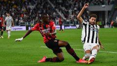 Pertandingan Juventus vs AC Milan di Allianz Stadium Turin, Senin (20/9/2021) dini hari WIB, berakhir imbang 1-1. Ft/Twitter @acmilan