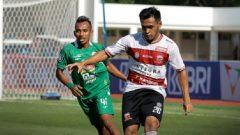 Pertandingan Madura United vs PSS Sleman di Stadion Madya Senayan, Jakarta, Sabtu (25/9/2021) sore WIB. Ft/twitter @Liga1match