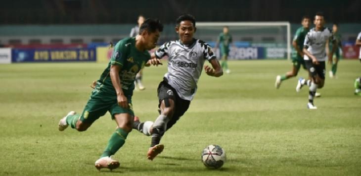 Duel Persebaya vs Persikabo 1973 di Stadion Wibawa Mukti, Cikarang, Bekasi, Sabtu (11/9) malam jadi satu-satunya laga dengan hasil akhir selisih lebih dari satu gol di pekan kedua Liga 1 2021/22. Ft/ dari laman Ligaindonesiabaru.com