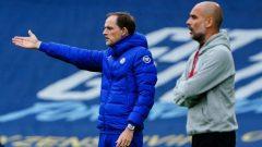 Manajer Chelsea, Thomas Tuchel (kiri) dan bos Manchester City, Pep Guardiola, prediksi chelsea vs man city