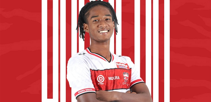Striker muda Madura United, Ronaldo Joybera Kwateh atau Ronaldo Kwateh.